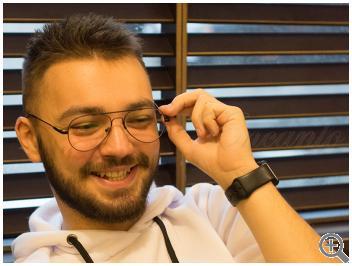 Компьютерные очки Blue Blocker C9001-C01 на мужчине фото