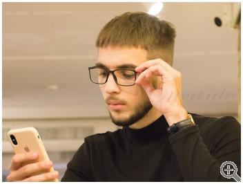 Компьютерные очки Blue Blocker MZ13-20-С01 на мужчине фото
